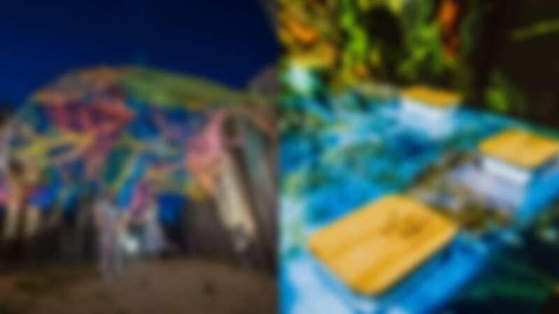 暑假最大光影藝術饗宴!朱銘美術館、中角灣上演「沈浸式光雕」,公園、海灘化身無牆美術館
