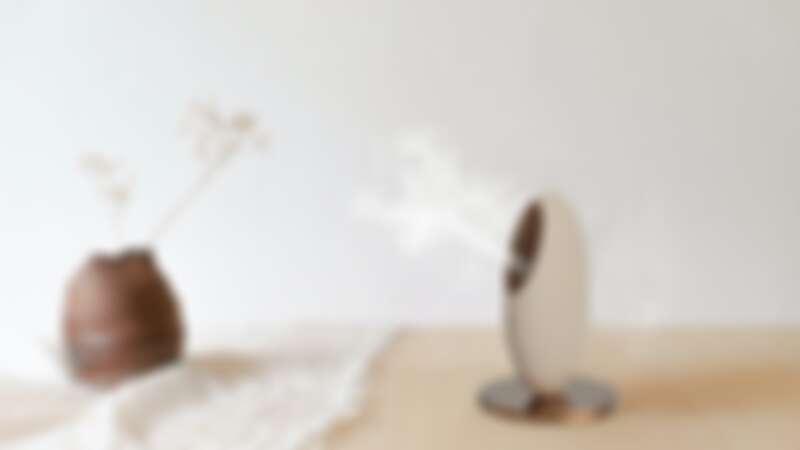 紐約時尚家居品牌BLOOMY LOTUS超實用的Pebble 隨身美肌香氛儀,是水氧機、也是美膚噴霧機,每秒15 萬次震盪噴出極細水霧