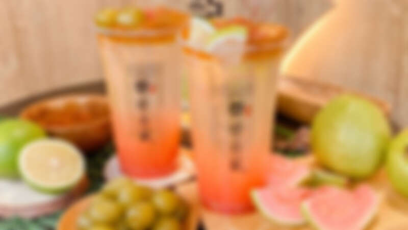 夏季限定!康青龍推2款紅心芭樂系列飲品,喝得到果粒、金萱茶凍,粉色漸層不只好喝還超好拍