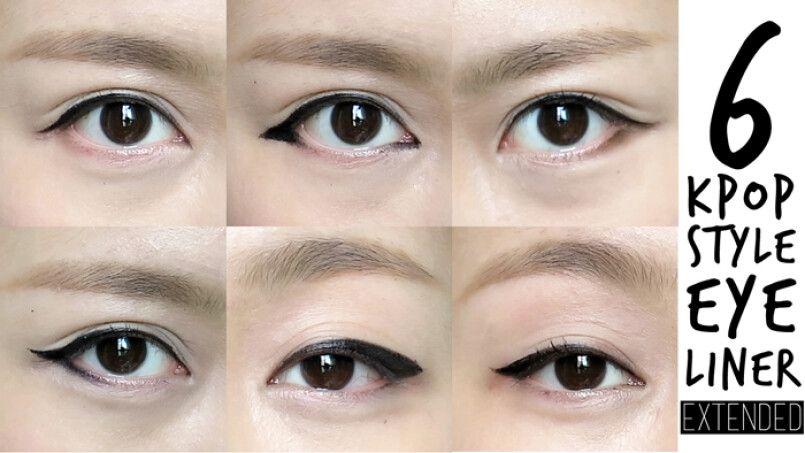 6款韓系眼線妝容畫法分解教學大公開