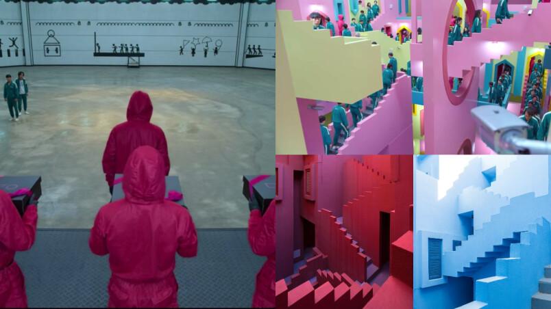 雷/《魷魚遊戲》驚人彩蛋細節你有發現?!牆上圖案有玄機、樓梯迷宮靈感來源是西班牙網美勝地?